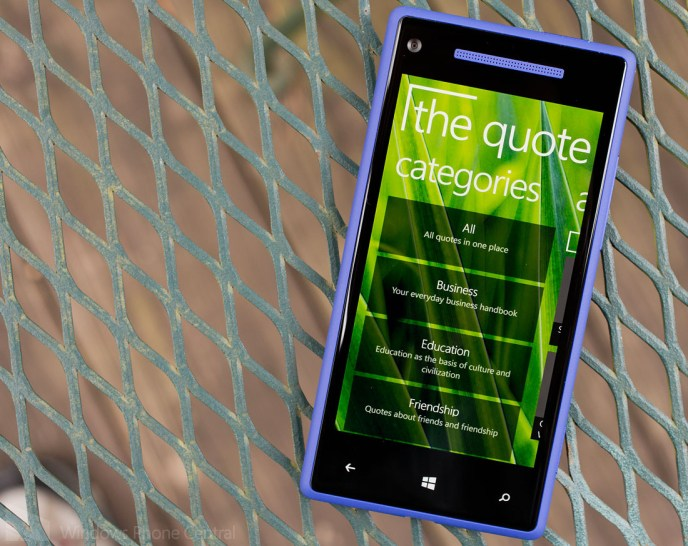 My old Windows Phone app The Quote