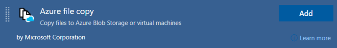 Azure File Copy task