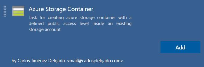 Azure Storage Container