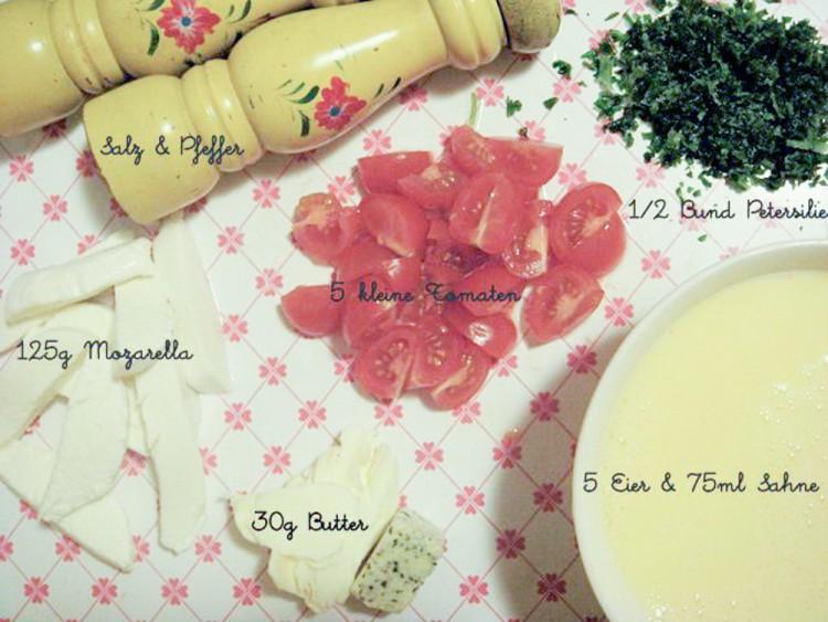 Mozzarella-Tomaten-Omelett