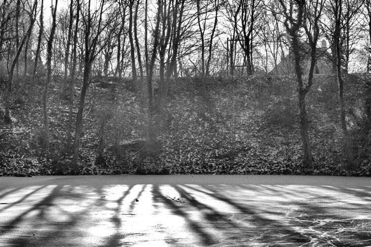 Wallanlagen Rostock im Winter