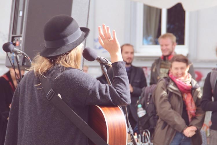 auf der Fête de la Musique 2014 in Rostock