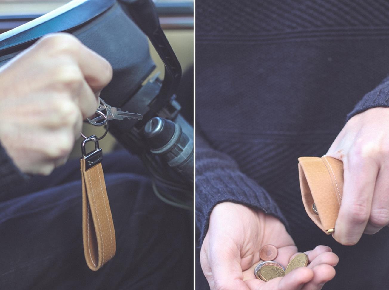 DIY Leather Money Bag, Lanyard & Wallet // Geldbörse, Schlüsselband ...