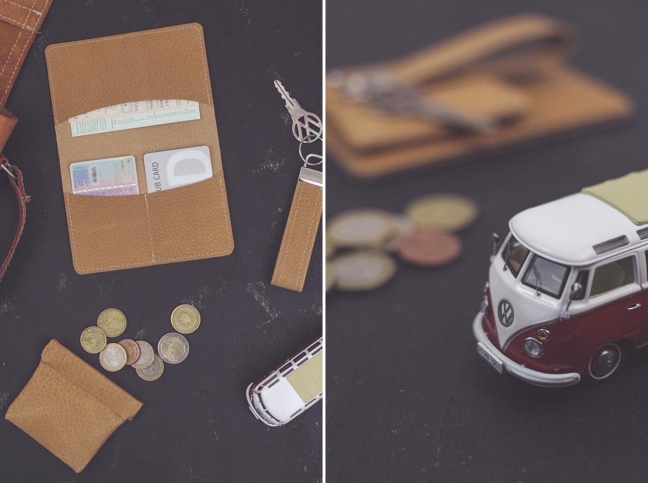 DIY Leather Money Bag, Lanyard & Wallet // Geldbörse, Schlüsselband und Etui für Fahrzeugpapiere aus Leder