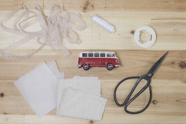 DIY Classic Car Ring Pillow
