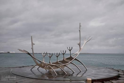 Sculpture du Sun Voyager à Reykjavik