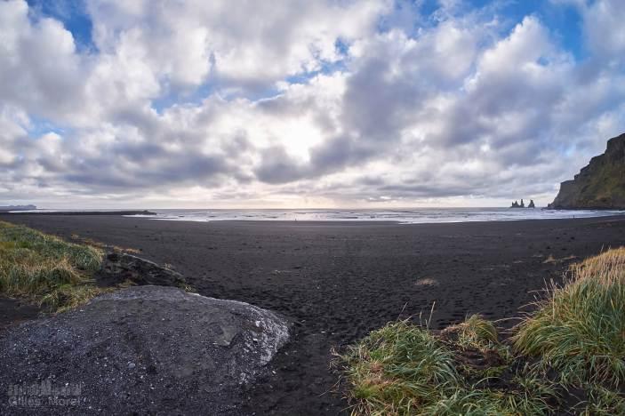 Plage de sable noir de Vík í Mýrdal