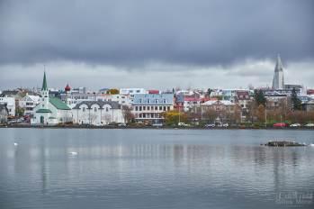 Vue de jour sur le Lac dans Reykjavik