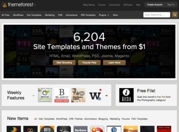 Premium WordPress Themes Web Templates Mobile Themes   ThemeForest 1
