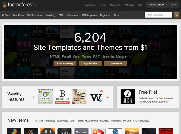 Premium WordPress Themes Web Templates Mobile Themes | ThemeForest 1