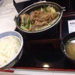 吉野家 「牛バラ野菜焼定食」は鍋じゃない!
