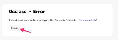 Osclass Error