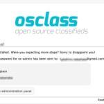 マッチングサイトをつくるためのCMS osclassをインストールしてみた
