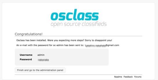 Osclass Installation