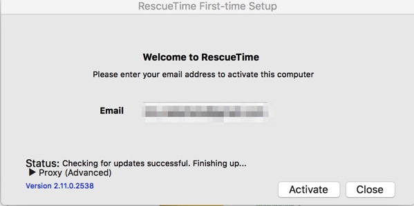 RescueTime First time Setup と Untitled と Preview of Untitled
