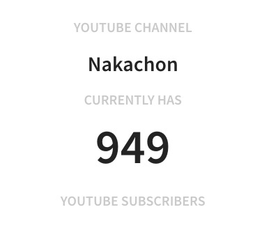 949 subscribers  Nakachon s realtime YouTube statistics | YouTube Subscriber Counter 2018 12 02 09 42 50