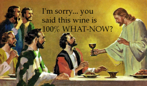 jesus offers wine at the last supper