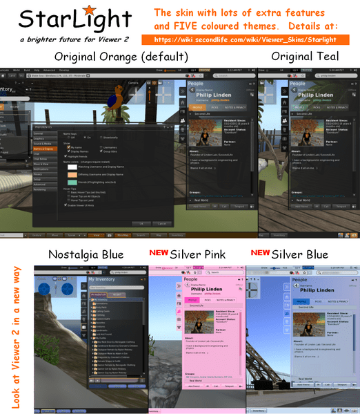 How to Make Second Life Viewer Skins | Nalates' Things