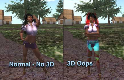 Second Life 3D Stereoscopic
