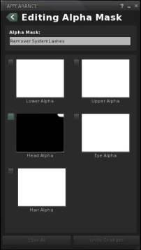 Alpha Mask Edit Panel