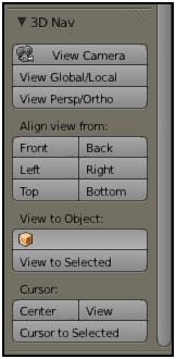 3D Nav Panel in Blender