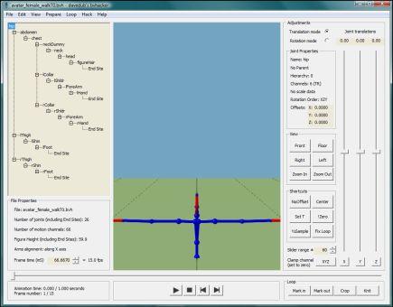 BVHacker Adjustment to Animation