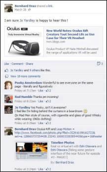 Oculus Rift VR - Conversation on Facebook