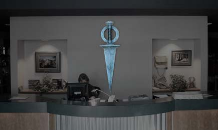 Riven Dagger in Cyan Inc. Office