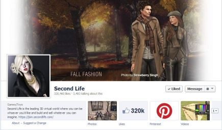 Second Life's Facebook Page