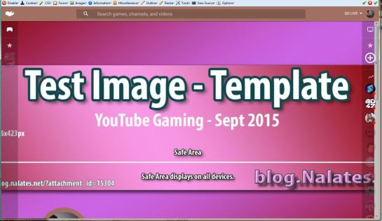 New Template @ YTG Shown Using Firefox