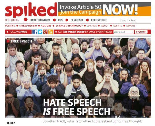 Hate Speech is Free Speech