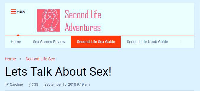 Секс в sl