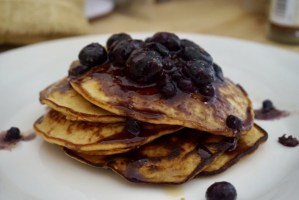 Guilt-Free Blueberry Banana Protein Pancakes