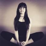 woman meditating seated