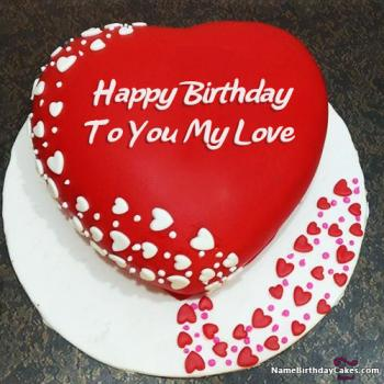 Sensational Love Romantic Birthday Cake For My Boyfriend The Cake Boutique Funny Birthday Cards Online Inifodamsfinfo