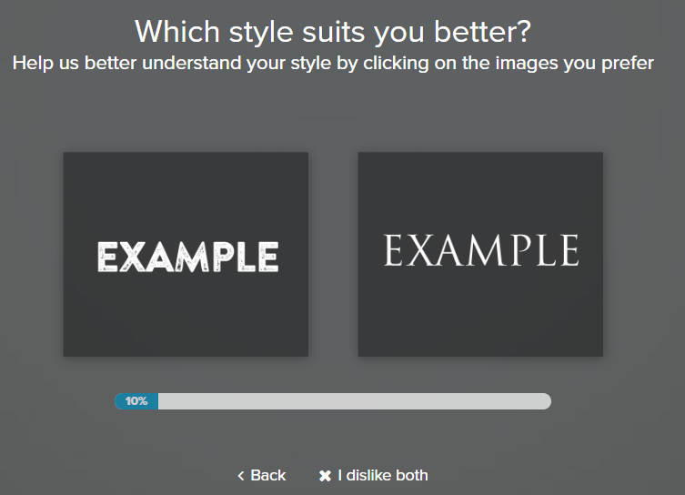 Choose the logo font styles that suit you best.