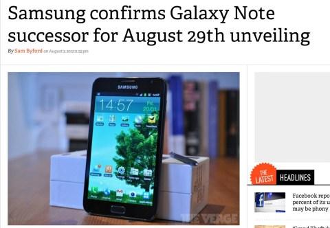 Samsung next galaxy note announcement date