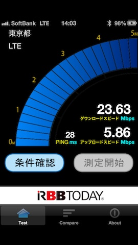 LTE SPEED計測 003