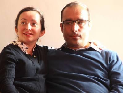 کیوان معصومی و همسرش ایکنور