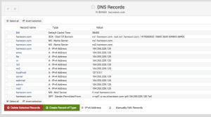 تنضیمات DNS Records در Webmin