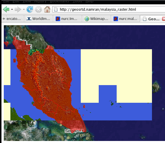 display raster with shapefile on the bottom
