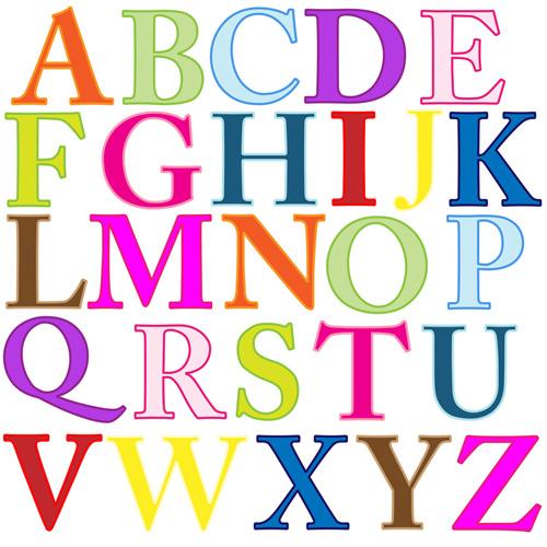 Alphabetletterscolorful