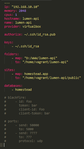 homestead.yaml Configuration