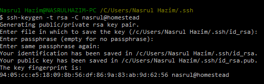 Try to SSH to Homestead