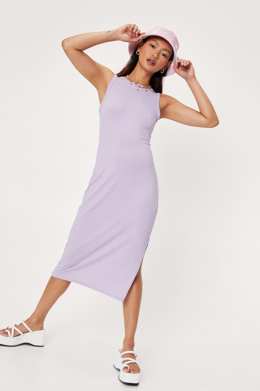 Lilac racerback midi dress