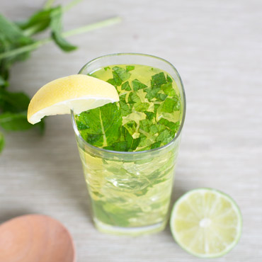 Lemon-Lime Mint Madness Mocktail Drink