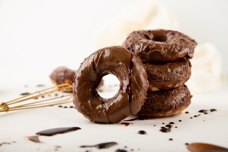 Vegan Chocolate Kahlua Donuts