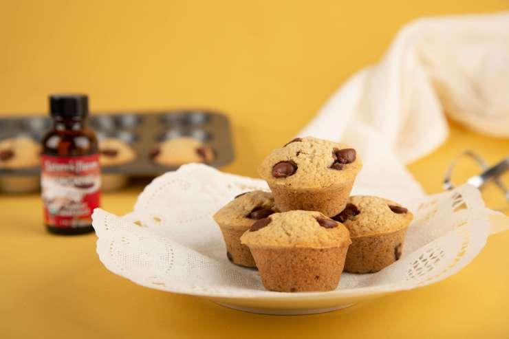 Banana Rum Chocolate Chip Muffins