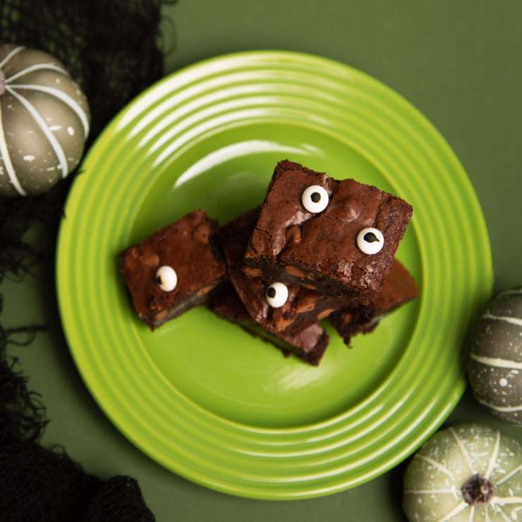 Spooky Eyed Fudgy Brownies