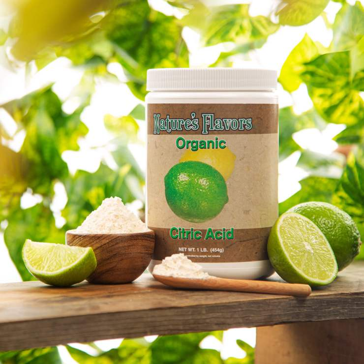 Nature's flavors citric acid powder.